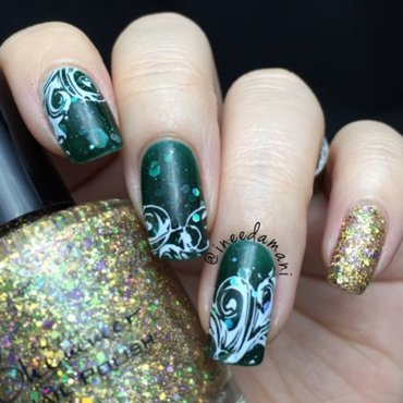 Kbshimmer 20green 20hex 20and 20glam 20dressed 20to 20gild 20christmas 20nails thumb370f