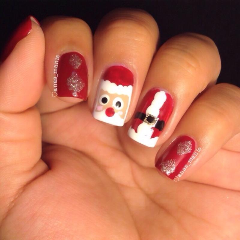 Santa nail art by anas_manis