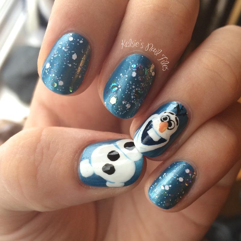 OLAF! (Frozen) Nail Art nail art by Kelsie - Nailpolis: Museum of ...