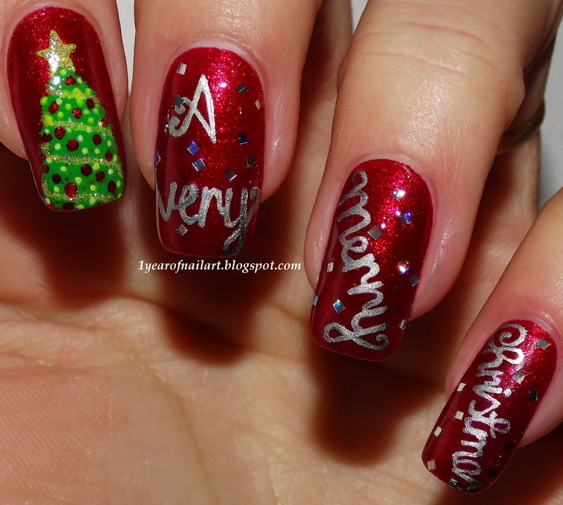 Wishing You A Very Merry Christmas Nail Art By Margriet Sijperda