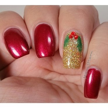million dollar mistletoe nail art by Moni'sMani