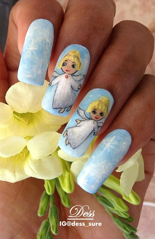 Angels nail art by Dess_sure