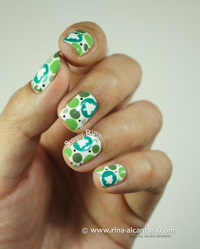 Spot the Christmas Tree nail art by Rina Alcantara