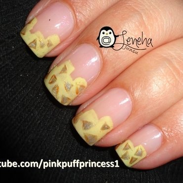 Pastel Triangles Nail Art nail art by Leneha Junsu