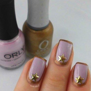 Star Stud nail art by Ann-Kristin