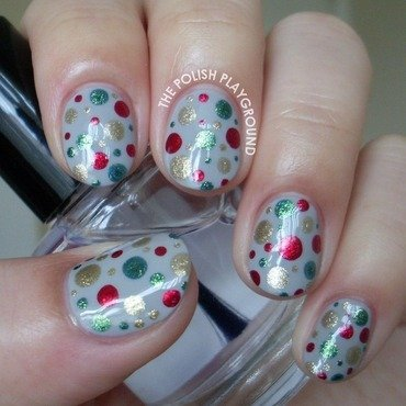 Festive Dotted Nail Art nail art by Lisa N
