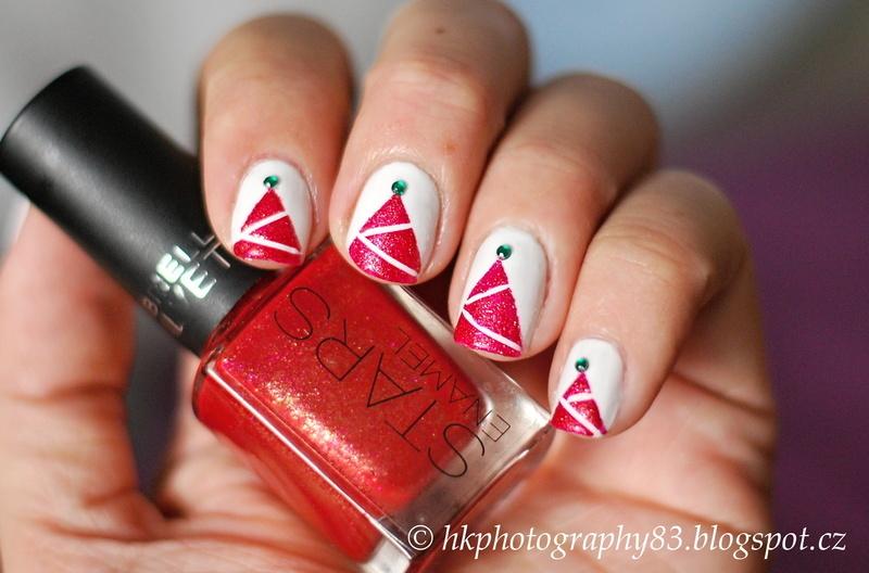 Christmas nails nail art by Hana K.