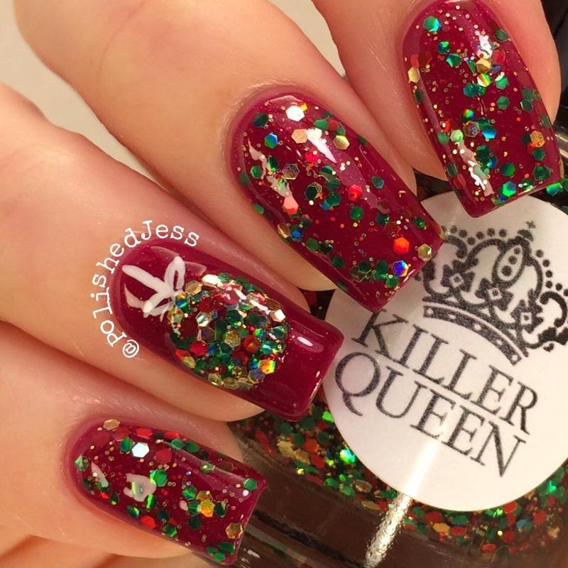 Twinkling Ornament  nail art by PolishedJess