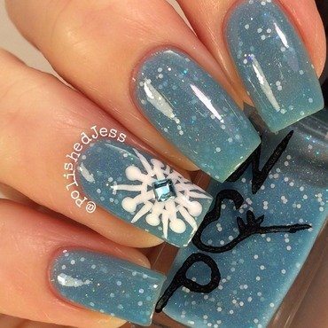 Snowy nail art by PolishedJess