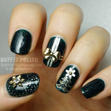 Celebrate Festivus / Christmas Nails nail art by Buff & Polish
