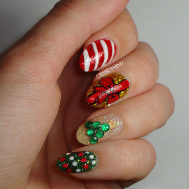 Merry Christmas! nail art by Christina