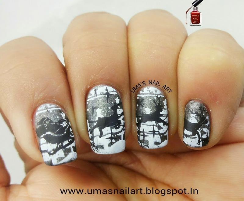 Christmas Eve Nail Art nail art by Uma mathur