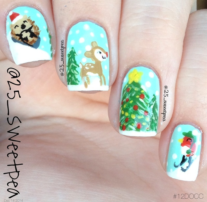 Wrapping Paper nail art by 25_sweetpea