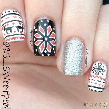 Christmas Sweater nail art by 25_sweetpea