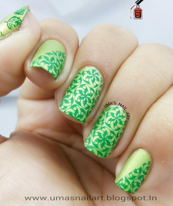 Spirograph Nails.... nail art by Uma mathur