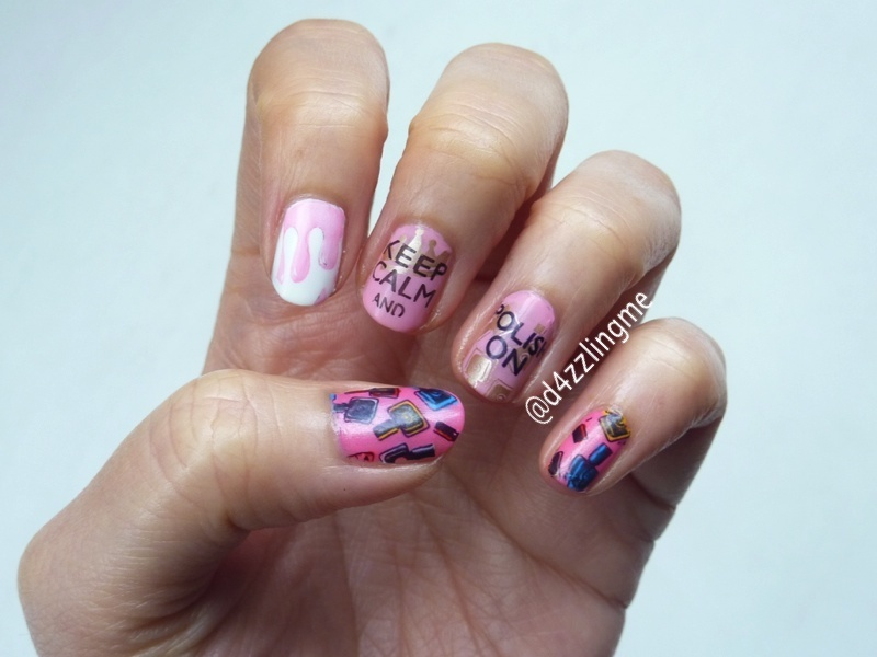Keep Calm and Polish on  nail art by D4zzling Me
