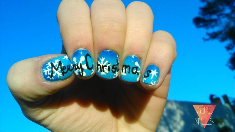 MERRY CHRISTMAS nail art by GepeNails