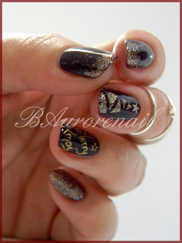 sapin nail art by BAurorenail