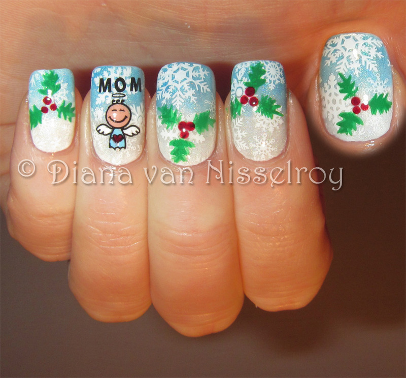 Mom Christmas Angel Nail Art By Diana Van Nisselroy Nailpolis