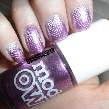 Mystic Mauve Hipster Arrowpoint nail art by The_Oracle
