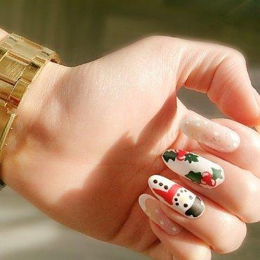Snow Man | Snow  nail art by Houry K
