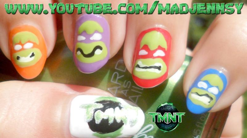 Teenage Mutant Ninja Turtles Nail Art nail art by madjennsy Nail Art