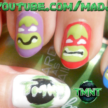 Teenage Mutant Ninja Turtles Nail Art nail art by madjennsy Nail Art