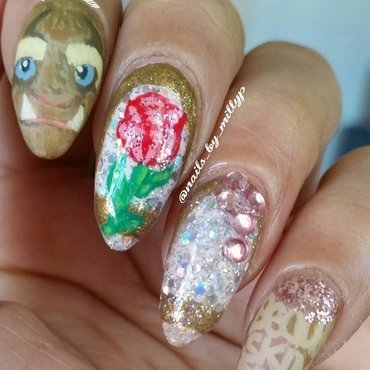 The Beast nail art by Milly Palma