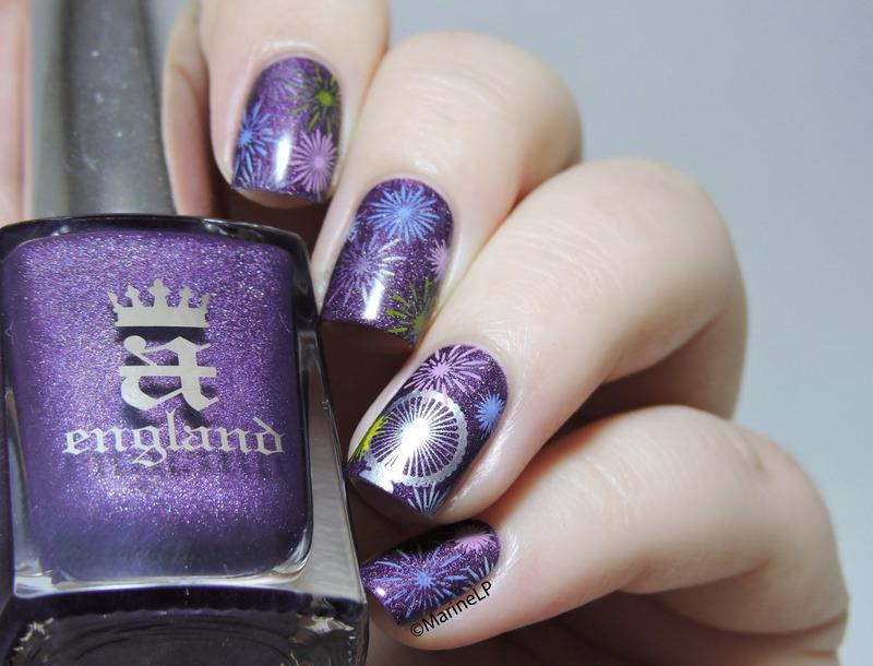 London NYE Fireworks inspired nails nail art by Marine Loves Polish ...