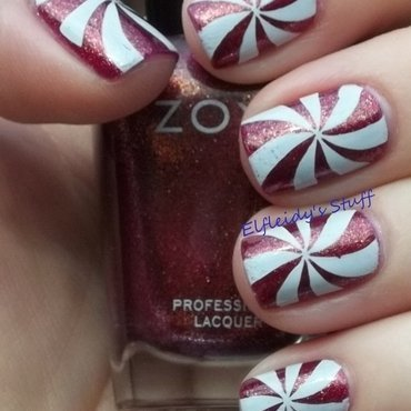 Stamping Sunday 12-21-2014 nail art by Jenette Maitland-Tomblin
