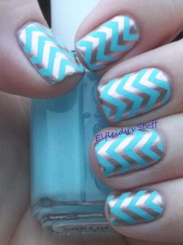 Chevron stamping nail art by Jenette Maitland-Tomblin