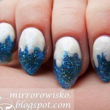 snow and ice nail art by Panna Dominika