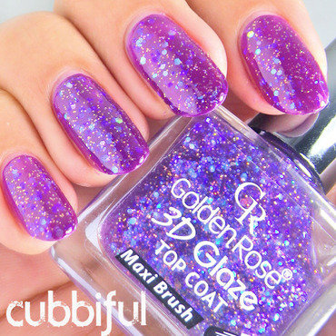 Golden Rose 3D Glaze No.09 Swatch by Cubbiful