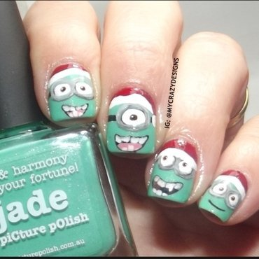 Minions nails nail art by Mycrazydesigns