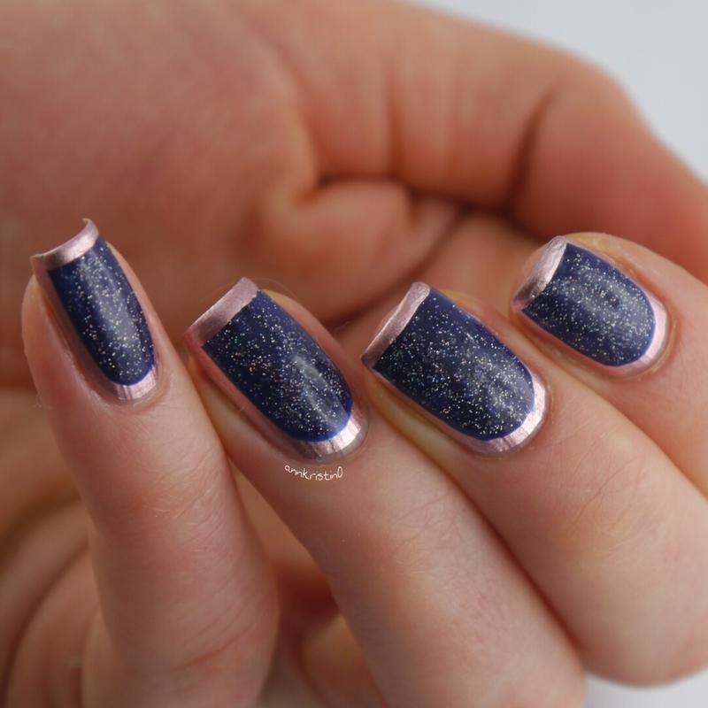 Rose Gold Framed nail art by Ann-Kristin