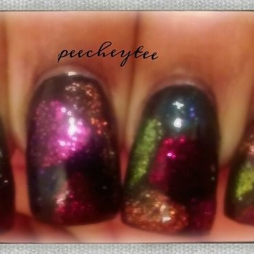Color blobs nail art nail art by peecheytee