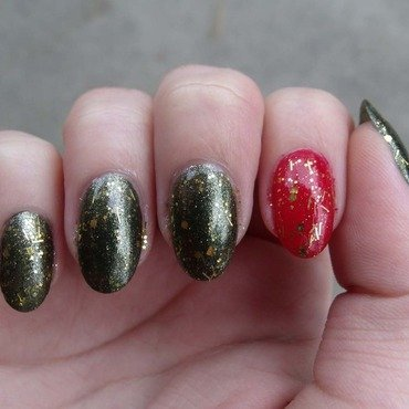 Holly Jolly Christmas nail art by Toria Mason