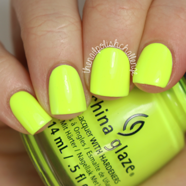 China Glaze Yellow polka dot bikini Swatch by Kelli Dobrin