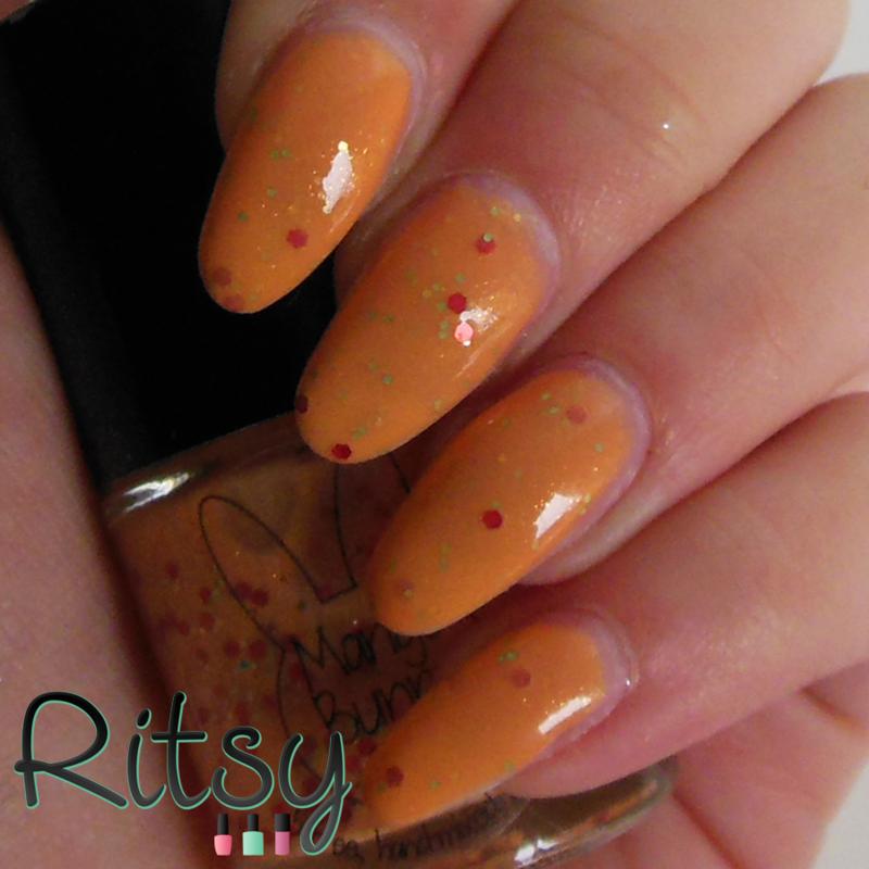 Mango Bunny Polish Sugar Cube Swatch by Ritsy NL