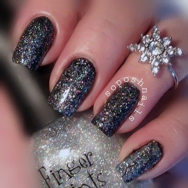FingerPaints Sparkle and Snowflake Swatch by Debbie