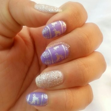Sweater nail art nail art by Manisha Manimatters