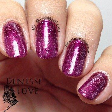 Plum Gradient nail art by Denisse Love