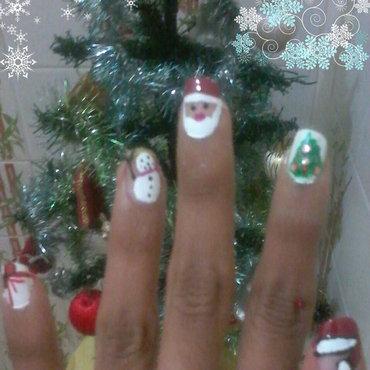 christmas nail art nail art by reena  dsa