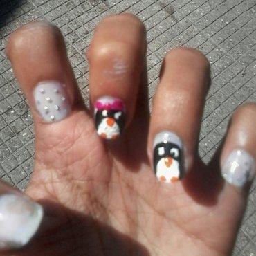 penquin nail art nail art by reena  dsa
