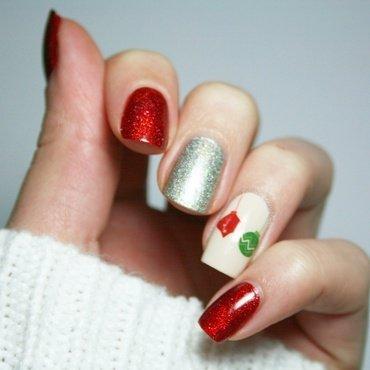 Christmas Baubles nail art by Polishisthenewblack
