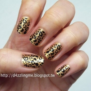 Leopard Nails  nail art by D4zzling Me