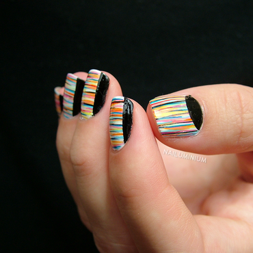 Limited Stripes nail art by Margee C.