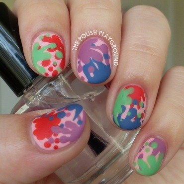 Food Fight Splatter Nail Art nail art by Lisa N