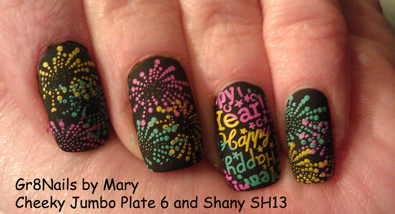 Happy New Year nail art by Gr8Nails
