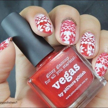 Sweater Nails nail art by CrazyPolishes (Dimpal)